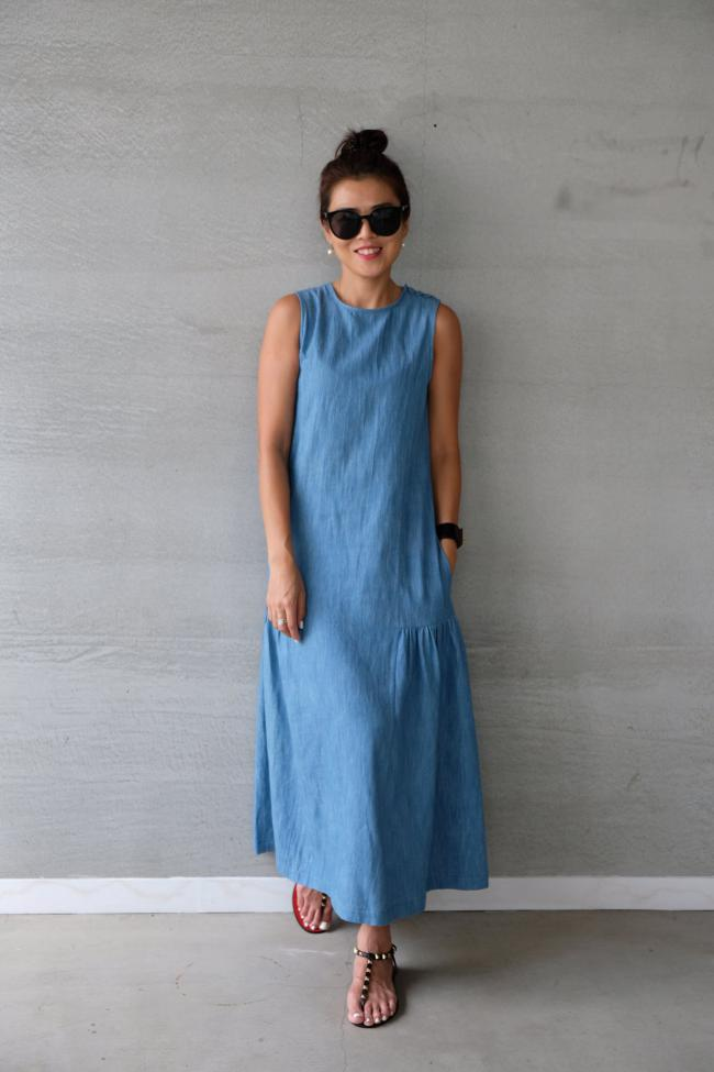 丹寧愜意時光洋裝