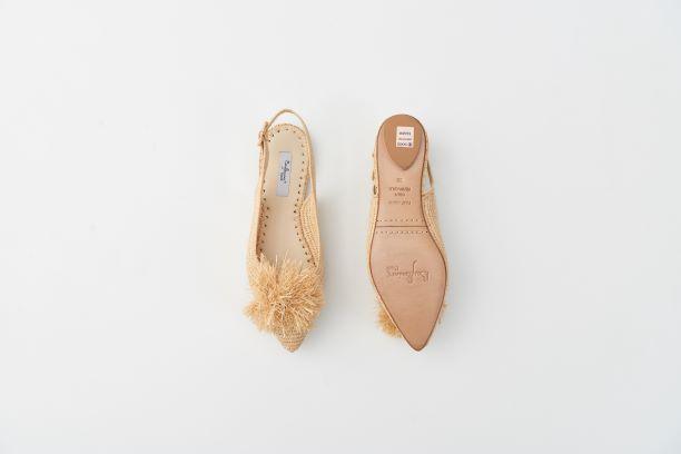 RAFIA 球球草編鞋 原色