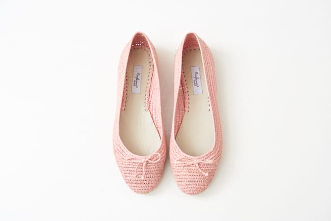 圓頭草編鞋 鮭魚粉,,,06BA19SRFGLW21,圓頭草編鞋鮭魚粉,