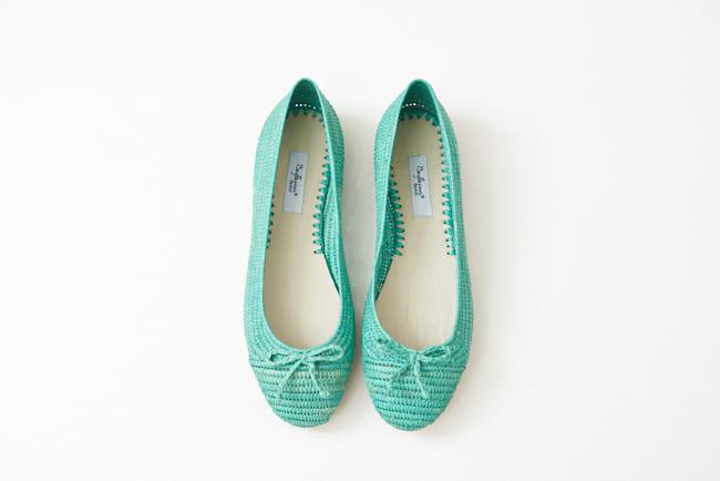 圓頭草編鞋 巴西里綠色