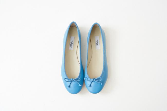 小羊皮圓頭芭蕾舞鞋 馬爾地夫藍