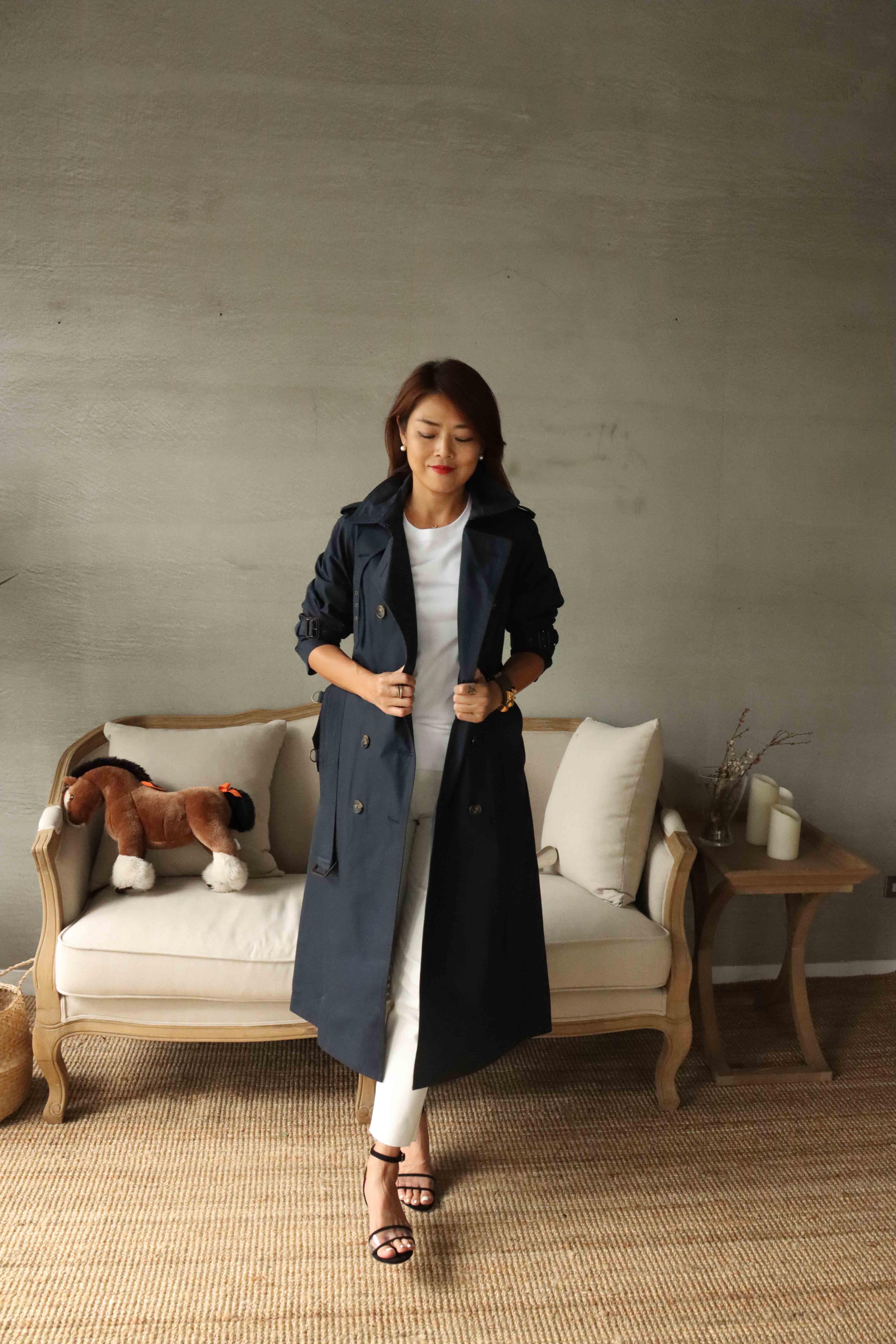 Landi Nelson/long雙排釦拉克蘭風衣