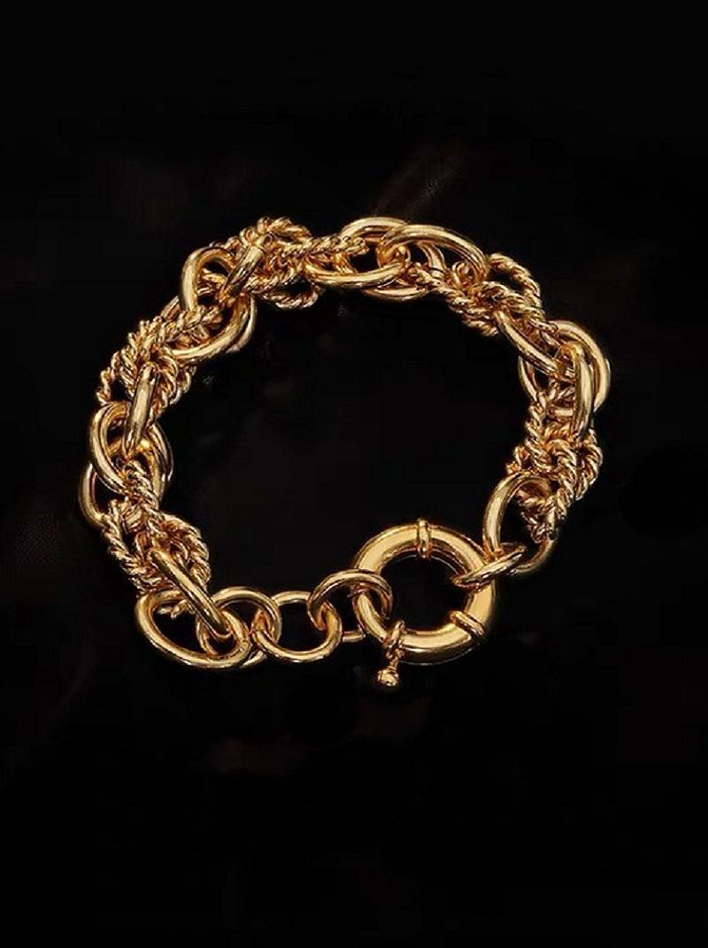 個性麻花紋鎖圈粗手環,,,H21S9715,個性麻花紋鎖圈粗手環,
