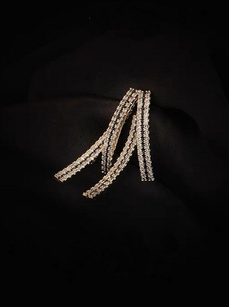鑲鑽交叉造型耳環,,,H21S9744,鑲鑽交叉造型耳環,