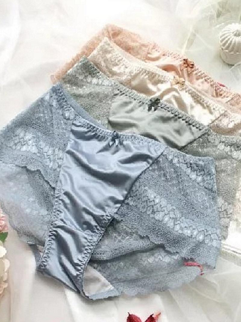 星願 綢緞蕾絲配套內褲 F