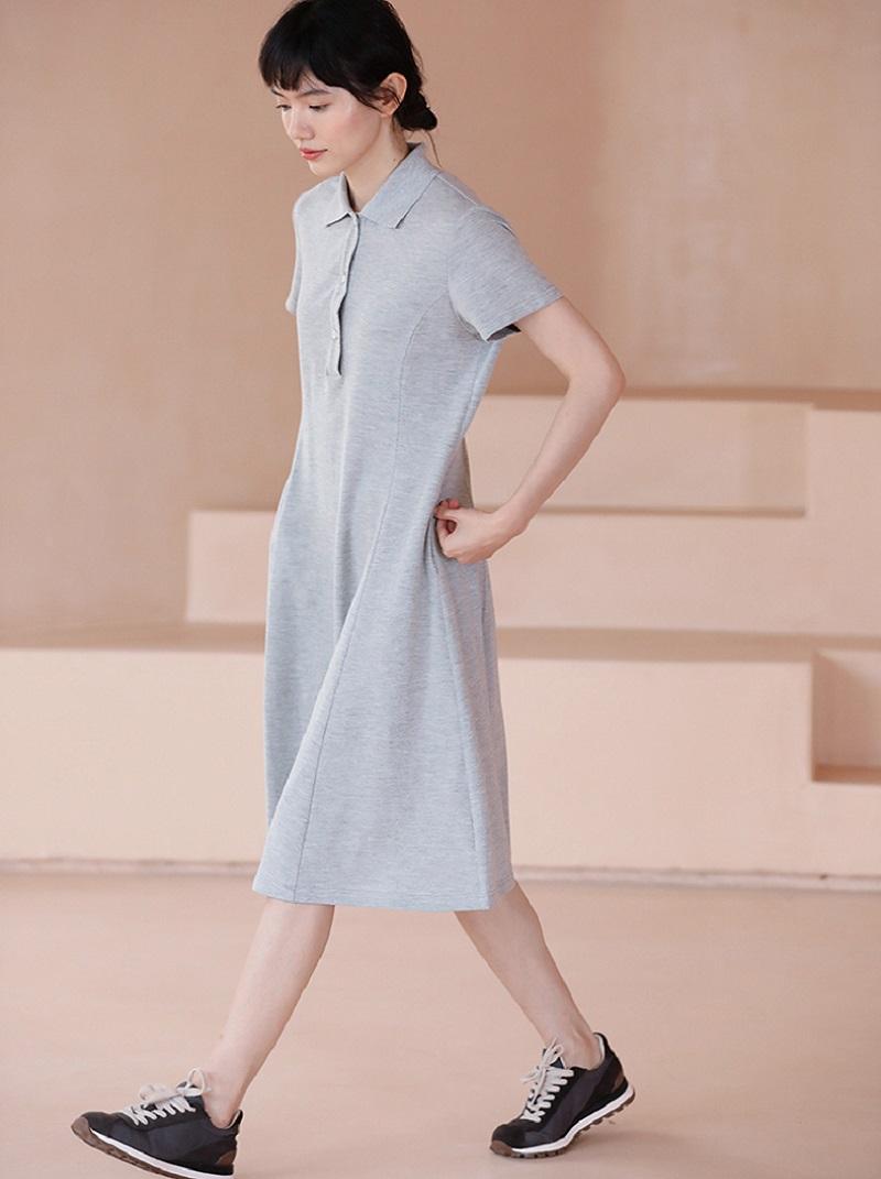 休閒感POLO領短袖洋裝,,,H21S7765,休閒感POLO領短袖洋裝,