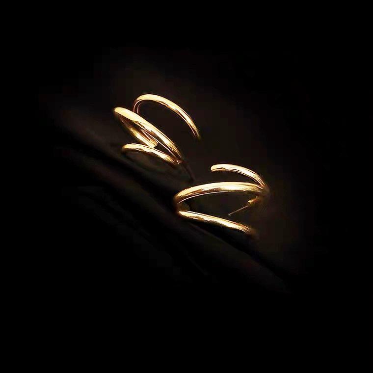 氣質簡約多層圈耳環
