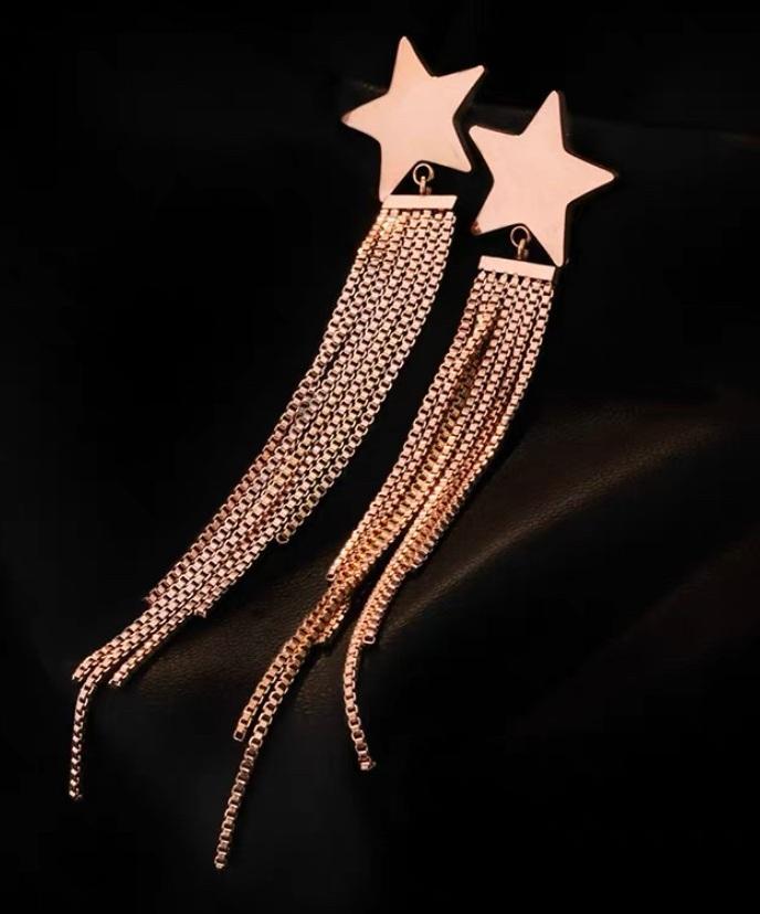 五角星流蘇耳環
