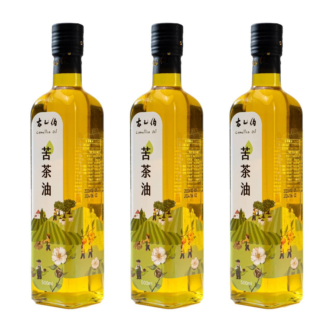 《古乙伯》苦茶油 (500ml /3瓶)
