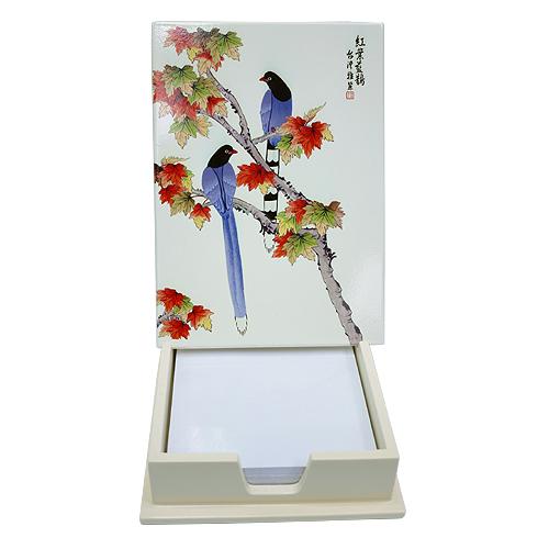 《聖宏》便條紙盒 (紅葉藍鵲)