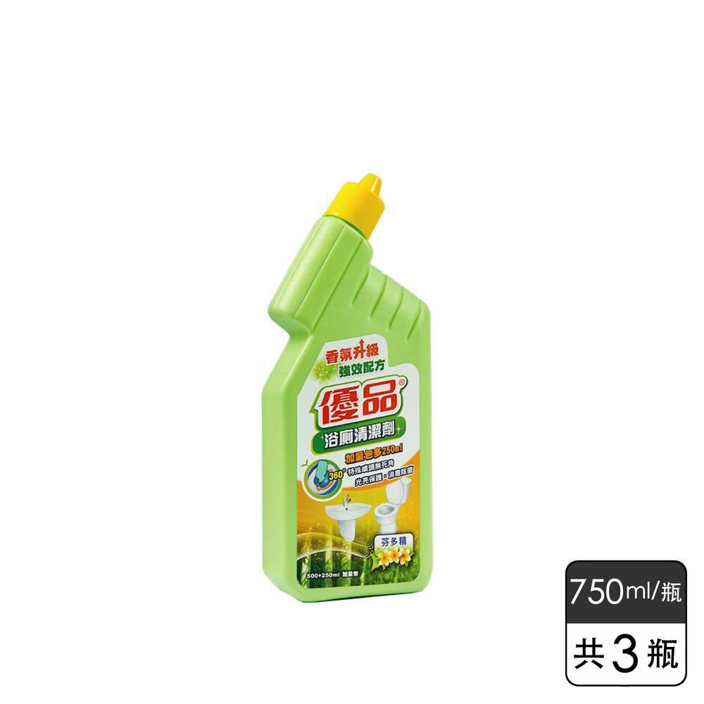 《優品》浴廁清潔劑-芬多精 (750ml*3瓶)