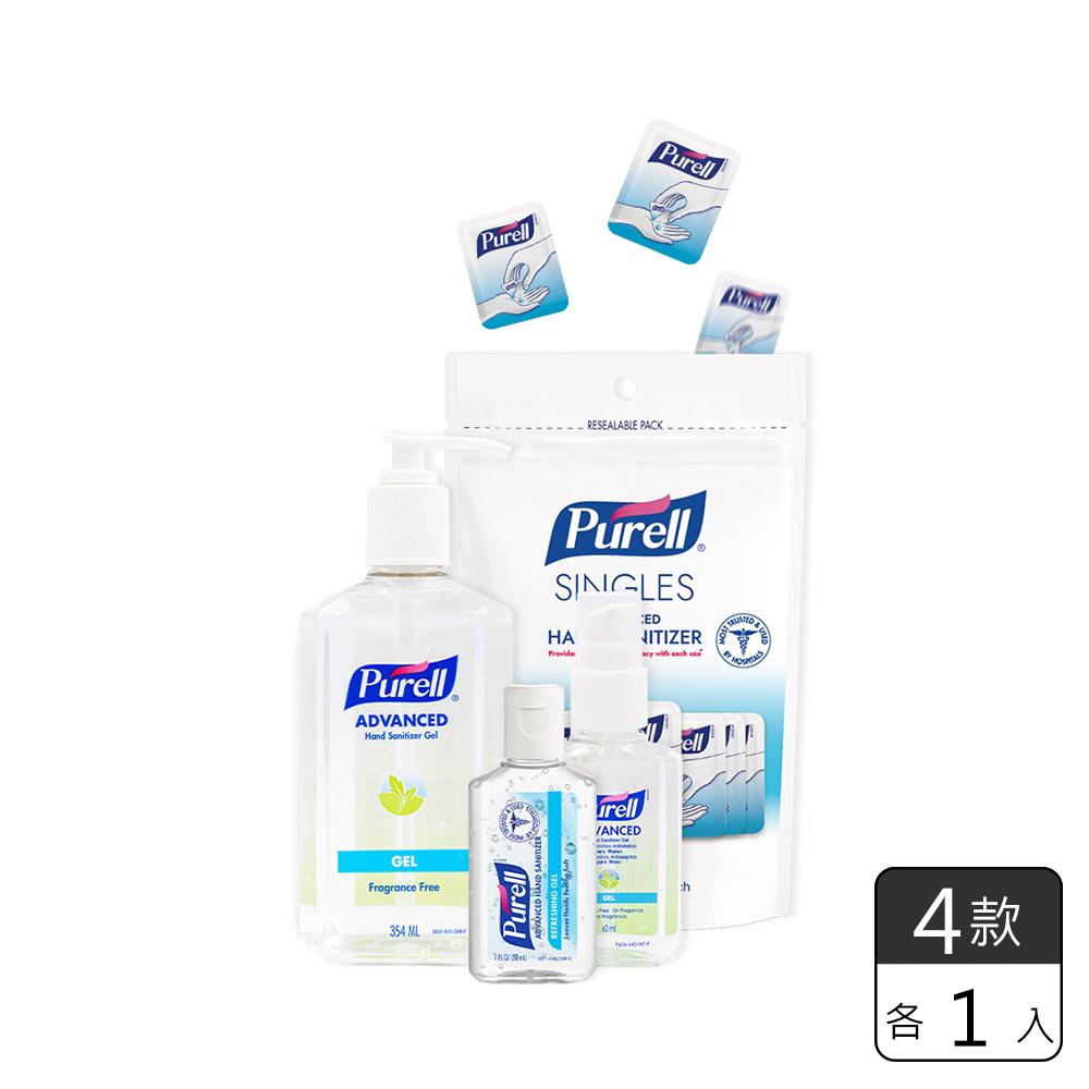 《Purell普瑞來》乾洗手凝露-家庭必備組 (4入)