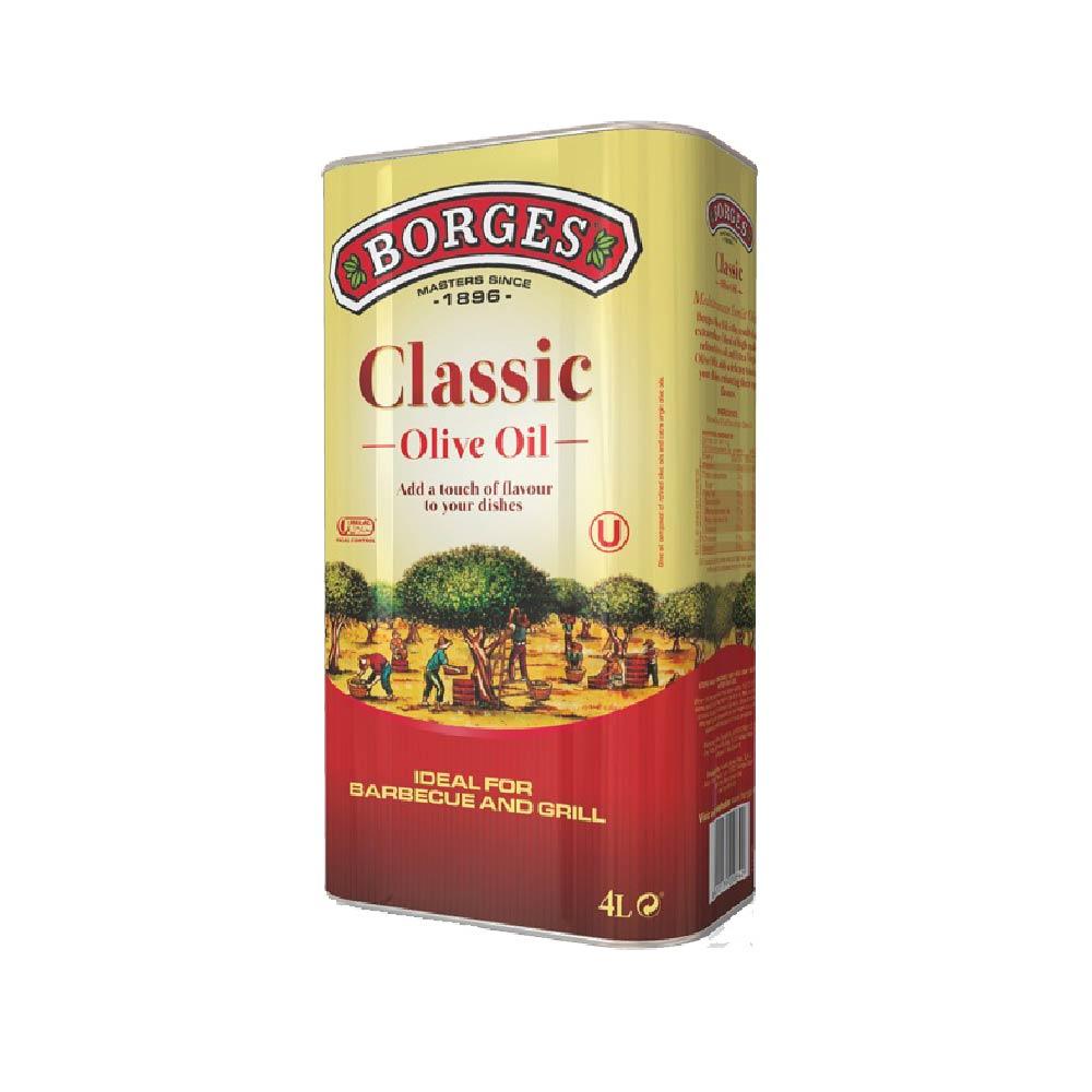 《西班牙BORGES百格仕》中味橄欖油 (4公升/瓶)