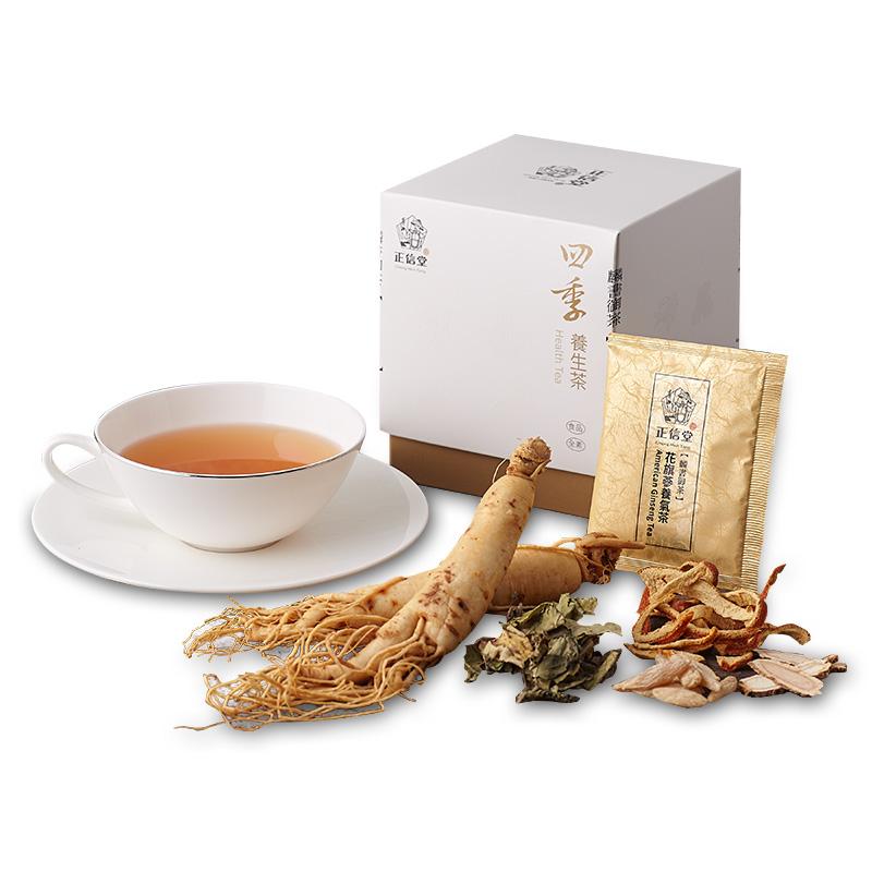 《正信堂》麟書御茶-四季養生茶-花旗蔘養氣茶 (10包/盒)