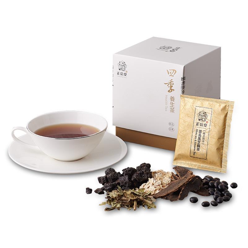 《正信堂》麟書御茶-四季養生茶-首烏黑芝麻茶 (10包/盒)