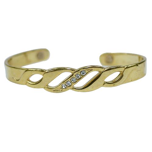 《聖宏》Aria 健康手環-金色縷空磁力手鐲