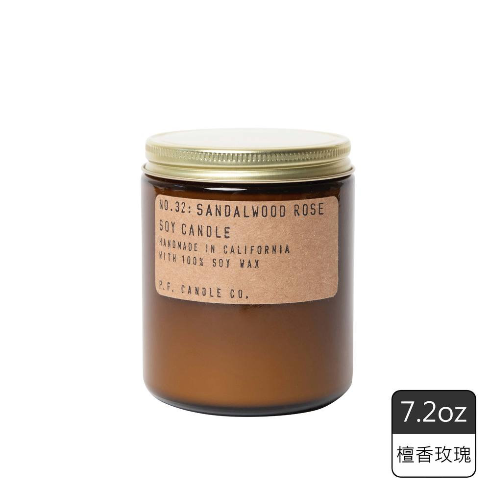 《P.F. Candles CO.》手工香氛蠟燭7.2oz檀香玫瑰 (2入)