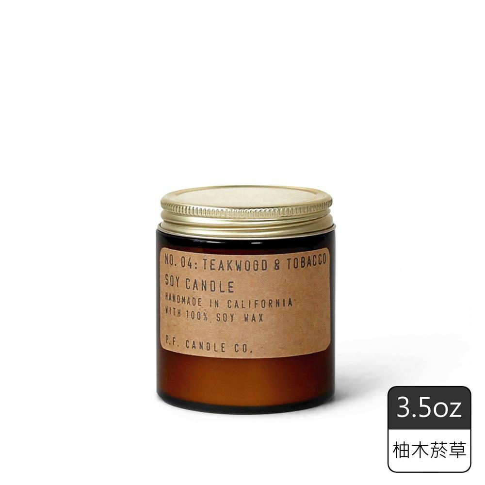 《P.F. Candles CO.》手工香氛蠟燭3.5oz柚木菸草(2入)