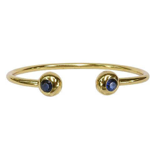《聖宏》Aria 健康手環-藍寶磁力金色手鐲