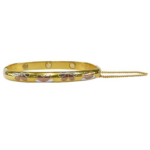《聖宏》Aria 健康手環-三色花朵磁性可開式手鐲