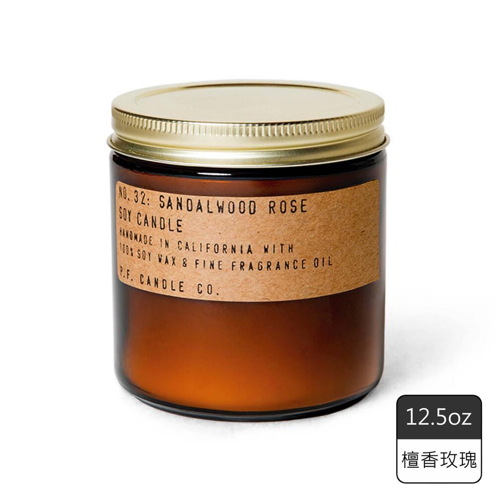 《P.F. Candles CO.》手工香氛蠟燭12.5oz檀香玫瑰(2入)
