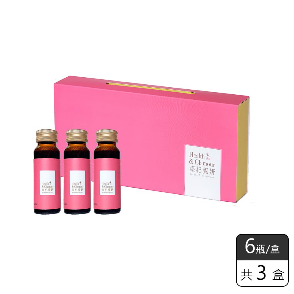 《長佳生技》棗杞養妍飲6瓶/盒,共3盒 (買2盒,送1盒)