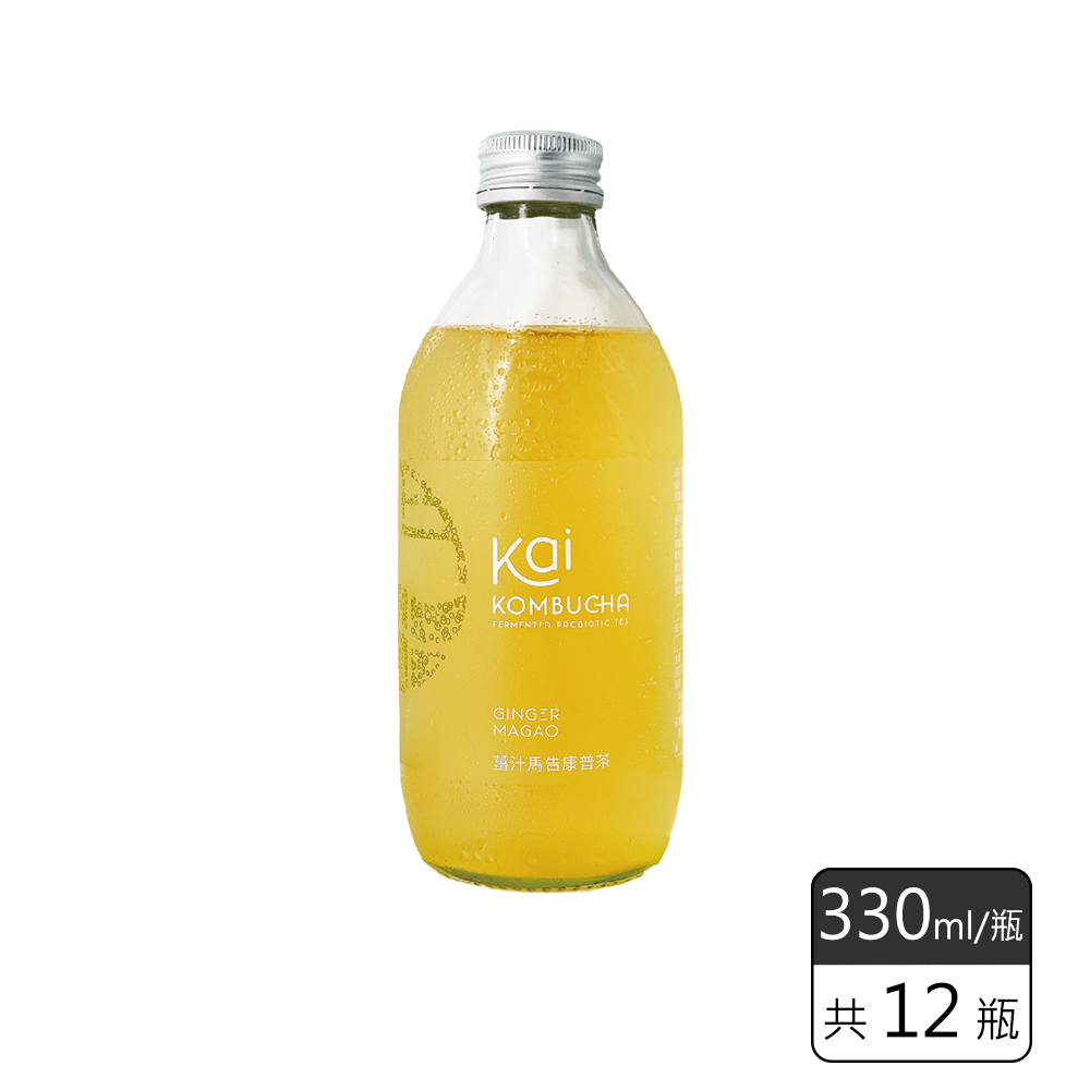 《馥聚 Foody》 Kai康普茶12入組(薑汁馬告*12)