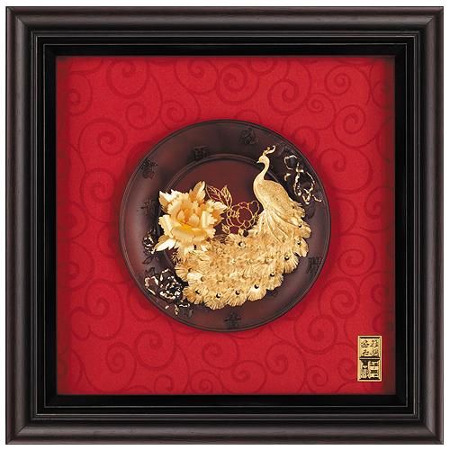 《聖宏》立體金箔畫-圓盤系列 (富貴吉祥)