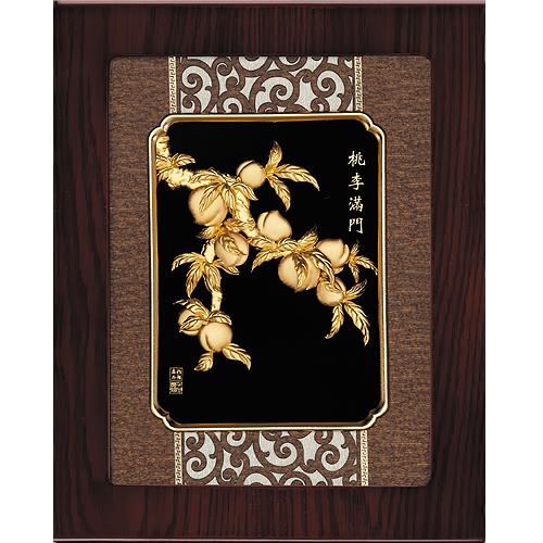 《聖宏》立體金箔畫-框畫系列27x34 (桃李滿門)