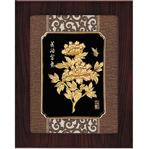 《聖宏》立體金箔畫-框畫系列27x34 (花開富貴)