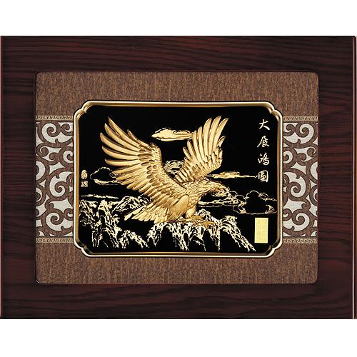 《聖宏》立體金箔畫-框畫系列27x34 (大展鴻圖)