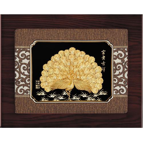 《聖宏》立體金箔畫-框畫系列27x34 (富貴吉祥)