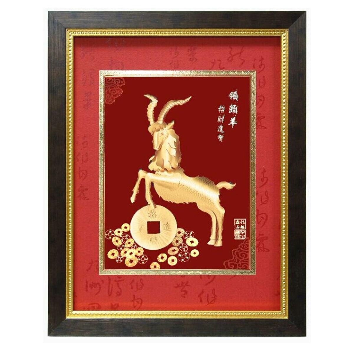 《聖宏》立體金箔畫-鴻福系列 (領頭羊)