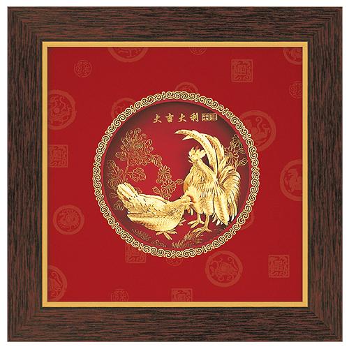 《聖宏》立體金箔畫-圓形系列 (大吉大利)