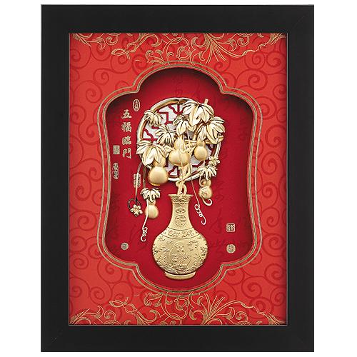 《聖宏》立體金箔畫-平安系列 (五福臨門)