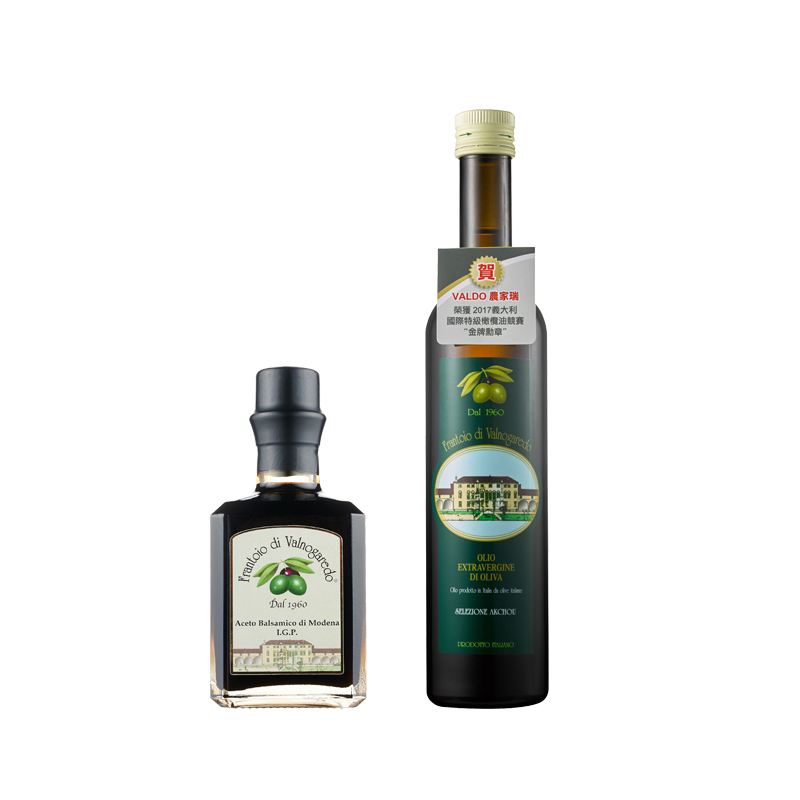 《VALDO農家瑞》 第一道冷壓特級初榨橄欖油-頂級油醋 (橄欖油+紅酒醋 )