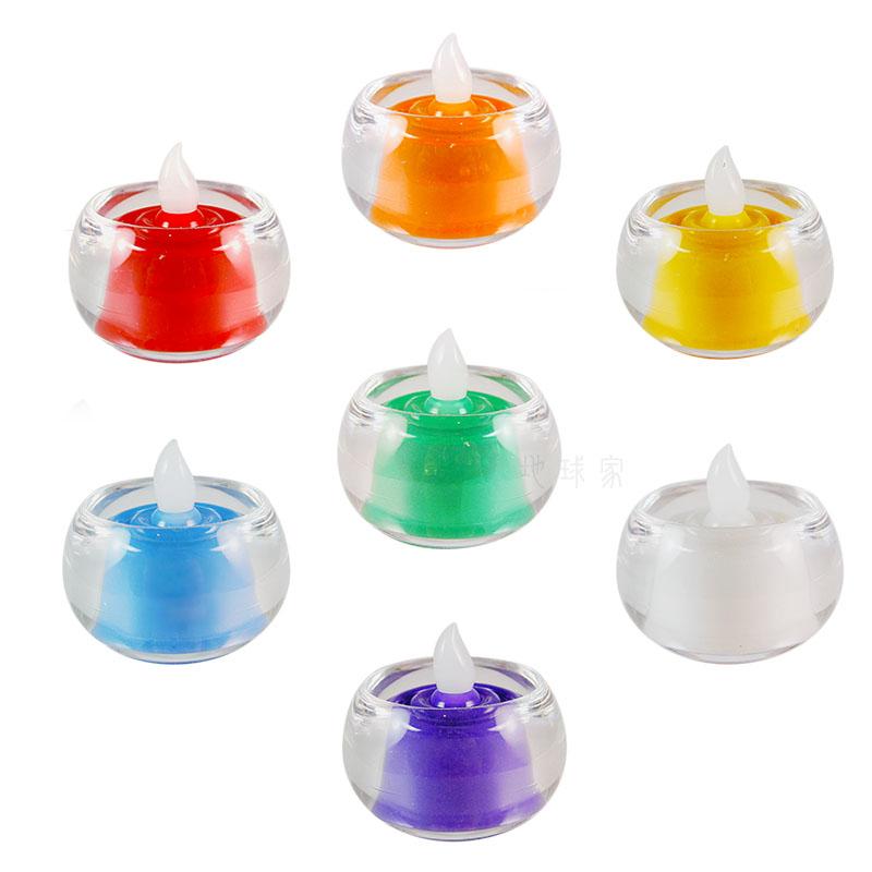 《弘麒》LED環保電子式蠟燭環保燭芯燈-小型含杯 (七色任選)