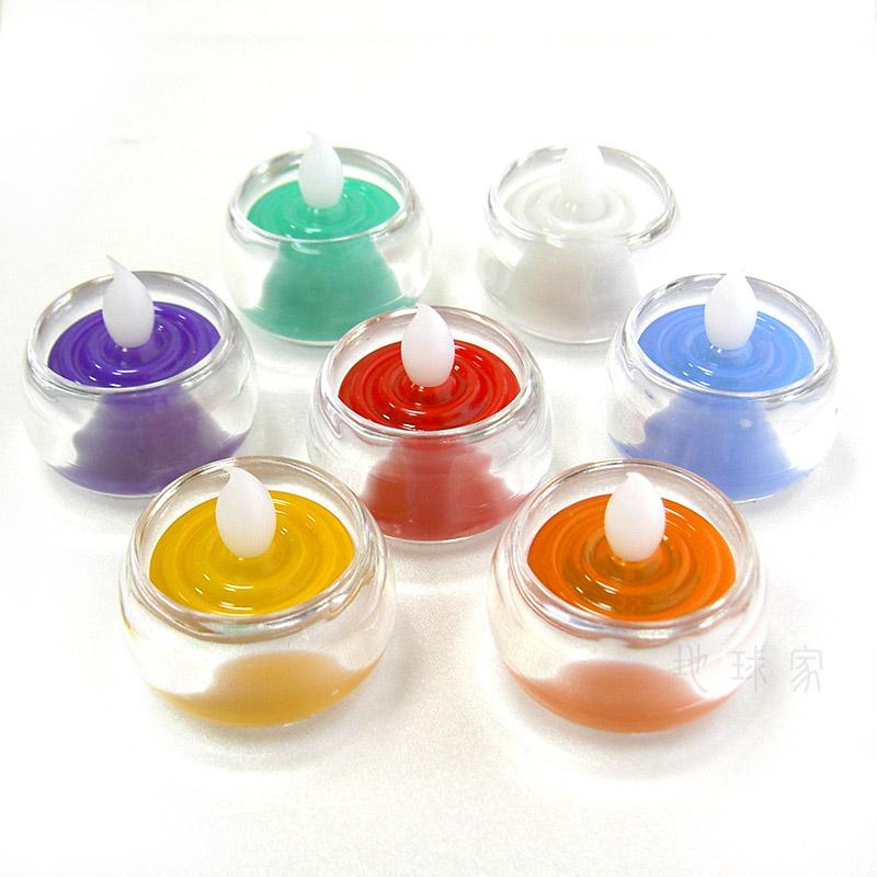 《弘麒》LED環保電子式蠟燭環保燭芯燈長效型-小型含杯 (七色任選)
