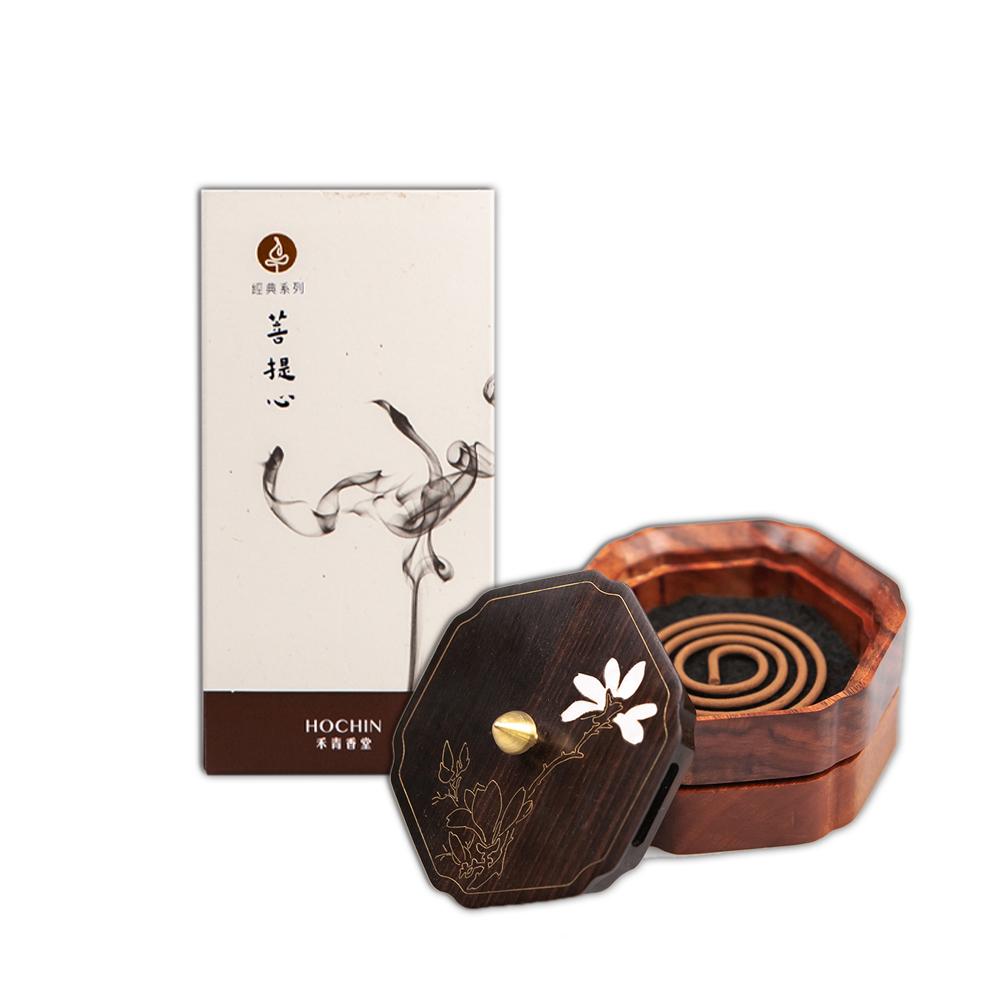 《禾青香堂》菩提心香組 (沉香盤香+盤香爐)