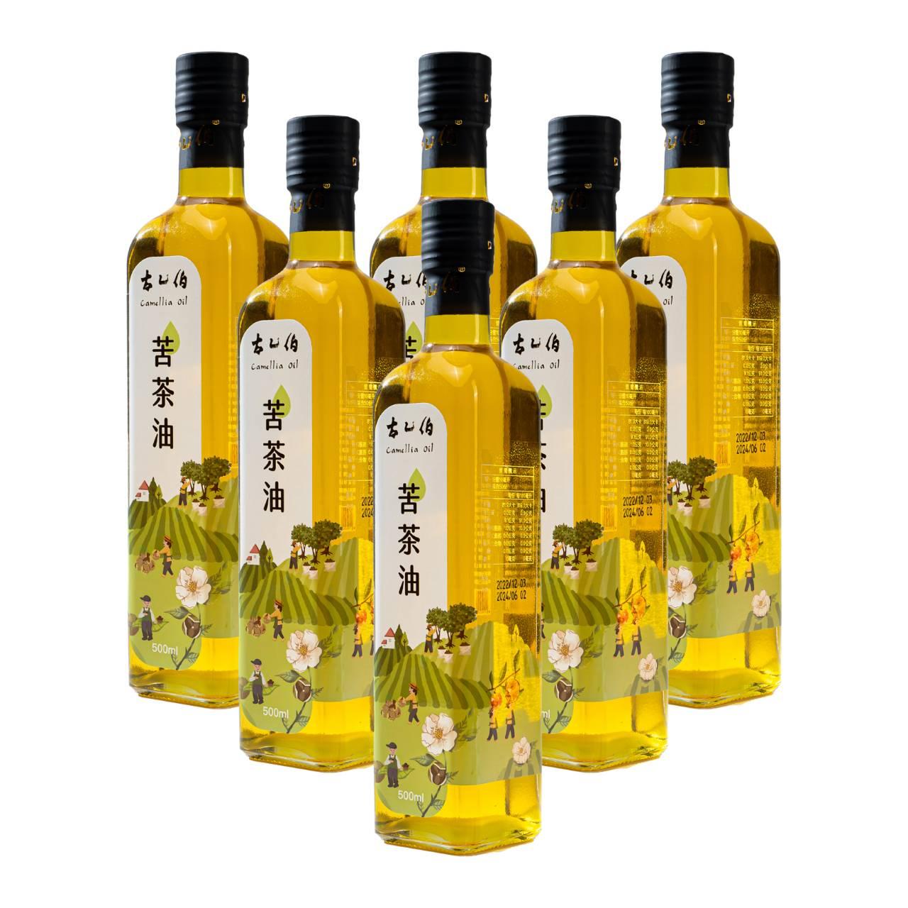 《古乙伯》苦茶油 (500ml /6瓶),初榨苦茶油,無添加,高營養,顧胃,茶油料理