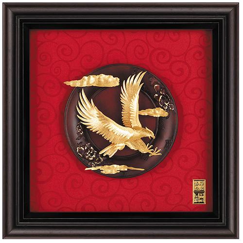 《聖宏》立體金箔畫-圓盤系列 (大展鴻圖),金箔畫,禮品,獎牌,立體金箔畫大展鴻圖,2021021881